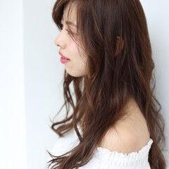 ルーズ ロング ふんわり 透け感ヘア ヘアスタイルや髪型の写真・画像