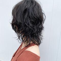 ウルフ マッシュウルフ ニュアンスウルフ ミディアム ヘアスタイルや髪型の写真・画像