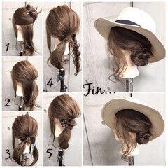 夏 涼しげ 色気 簡単ヘアアレンジ ヘアスタイルや髪型の写真・画像