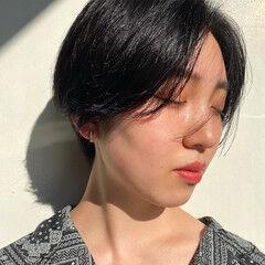 ベリーショート 大人かわいい ショートヘア ハンサムショート ヘアスタイルや髪型の写真・画像
