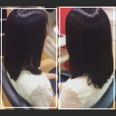 ミディアム ナチュラル 大人ヘアスタイル オフィス ヘアスタイルや髪型の写真・画像