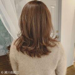 ゆるふわ ナチュラル ミディアム 春ヘア ヘアスタイルや髪型の写真・画像