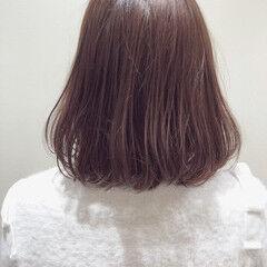 オルティーブアディクシー アディクシーカラー ボブ ベリーピンク ヘアスタイルや髪型の写真・画像