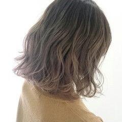 ゆるふわ 暗髪 ボブ ブルージュ ヘアスタイルや髪型の写真・画像