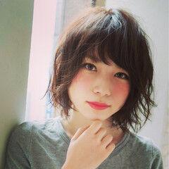ミディアムパーマ美容師 眞鳥康史さんが投稿したヘアスタイル