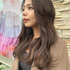 大人ハイライト ロング グラデーションカラー エレガント ヘアスタイルや髪型の写真・画像
