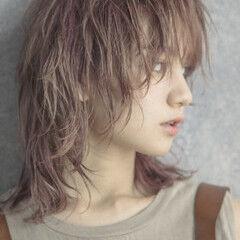 ウルフカット ウルフ ウルフ女子 ミディアム ヘアスタイルや髪型の写真・画像