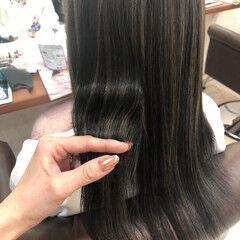 セミロング ギャル 最新トリートメント ハイライト ヘアスタイルや髪型の写真・画像