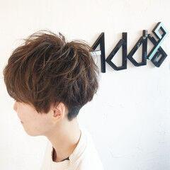ショート ウルフカット バレイヤージュ ツーブロック ヘアスタイルや髪型の写真・画像