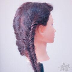 ヘアアレンジ アウトドア 簡単ヘアアレンジ ロング ヘアスタイルや髪型の写真・画像