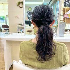 ロング ナチュラル セルフヘアアレンジ 簡単ヘアアレンジ ヘアスタイルや髪型の写真・画像