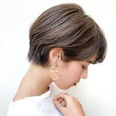 モカベージュ ショコラブラウン ミルクティーベージュ ショートボブ ヘアスタイルや髪型の写真・画像