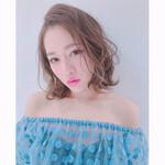 ピンク 外国人風 ローライト モテ髪