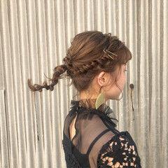 結婚式 ミディアム 成人式 ヘアアレンジ ヘアスタイルや髪型の写真・画像