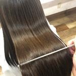 髪質改善カラー 髪質改善トリートメント 縮毛矯正 ロング