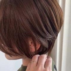 簡単スタイリング 大人かわいい ナチュラル バーム ヘアスタイルや髪型の写真・画像