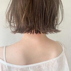 レイヤーカット ボブ アンニュイほつれヘア 前髪あり ヘアスタイルや髪型の写真・画像