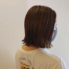 ボブ ナチュラル 外ハネボブ 切りっぱなしボブ ヘアスタイルや髪型の写真・画像