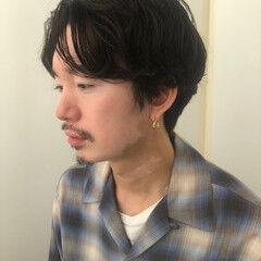 くせ毛風 メンズヘア ミディアム メンズ ヘアスタイルや髪型の写真・画像