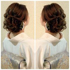 簡単ヘアアレンジ ロング 結婚式 ナチュラル ヘアスタイルや髪型の写真・画像