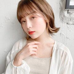 ミニボブ ひし形シルエット 前髪 ヘアアレンジ ヘアスタイルや髪型の写真・画像