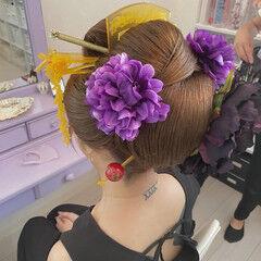 ヘアアレンジ エレガント ヘアセット ボブ ヘアスタイルや髪型の写真・画像