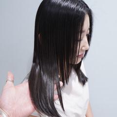 セミロング トリートメント 髪質改善トリートメント 大人かわいい ヘアスタイルや髪型の写真・画像