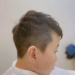 ショート キッズカット キッズ ナチュラル ヘアスタイルや髪型の写真・画像