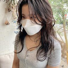 ナチュラル ロング 韓国ヘア ヨシンモリ ヘアスタイルや髪型の写真・画像