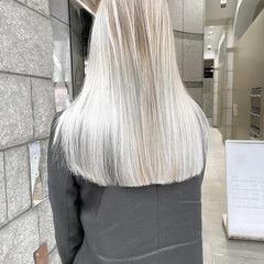ラベンダーカラー ボブ ミルクティーベージュ フェミニン ヘアスタイルや髪型の写真・画像