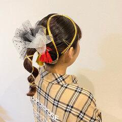 振袖ヘア セミロング 袴 モード ヘアスタイルや髪型の写真・画像