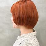 アプリコットオレンジ フェミニン デザインカラー オレンジブラウン
