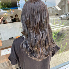 グレージュ ノーブリーチ シルバーグレージュ ナチュラル ヘアスタイルや髪型の写真・画像