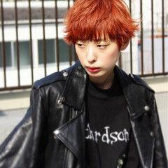 ハイトーン モード ショート ストリート ヘアスタイルや髪型の写真・画像