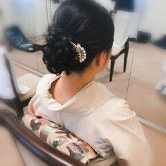 和装髪型 アップ ミディアム アップスタイル ヘアスタイルや髪型の写真・画像
