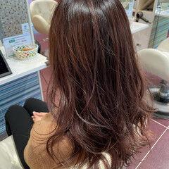 可愛い ショコラブラウン フェミニン ロング ヘアスタイルや髪型の写真・画像