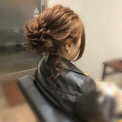 成人式ヘア フェミニン アップ セミロング ヘアスタイルや髪型の写真・画像