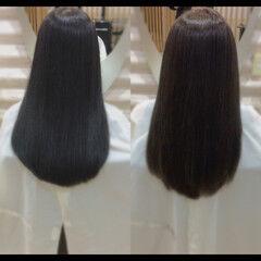 髪質改善カラー 髪質改善 ナチュラル 艶髪 ヘアスタイルや髪型の写真・画像