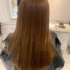 美髪矯正 トリートメント 美髪 セミロング ヘアスタイルや髪型の写真・画像