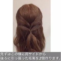 大人かわいい 簡単ヘアアレンジ ショート セミロング ヘアスタイルや髪型の写真・画像