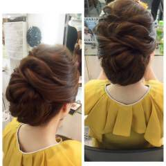 パーティ クラシカル フェミニン ヘアアレンジ ヘアスタイルや髪型の写真・画像