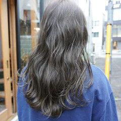 暗髪 ロング 透明感 ナチュラル ヘアスタイルや髪型の写真・画像