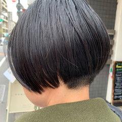 ショート 刈り上げ ナチュラル 刈り上げショート ヘアスタイルや髪型の写真・画像