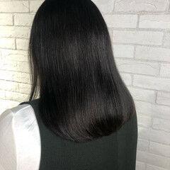 卒業式 大人ミディアム セミロング 透明感カラー ヘアスタイルや髪型の写真・画像