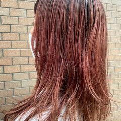 モード オレンジカラー オレンジ 無造作パーマ ヘアスタイルや髪型の写真・画像