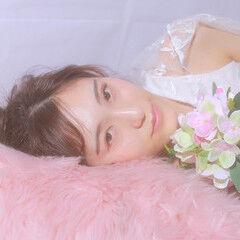お団子アレンジ あざとい ヘアアレンジ フェミニン ヘアスタイルや髪型の写真・画像