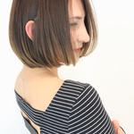 斜め前髪 ワンレングス 春スタイル ショートボブ