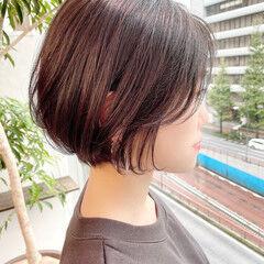 ナチュラル ベリーショート ショート オフィス ヘアスタイルや髪型の写真・画像