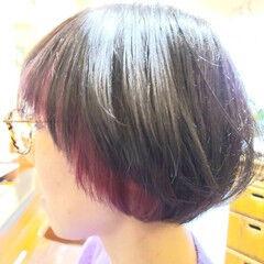 アディクシーカラー ピンクラベンダー ダブルカラー マッシュ ヘアスタイルや髪型の写真・画像