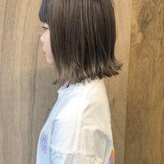 ボブ ナチュラル 外ハネボブ ミニボブ ヘアスタイルや髪型の写真・画像